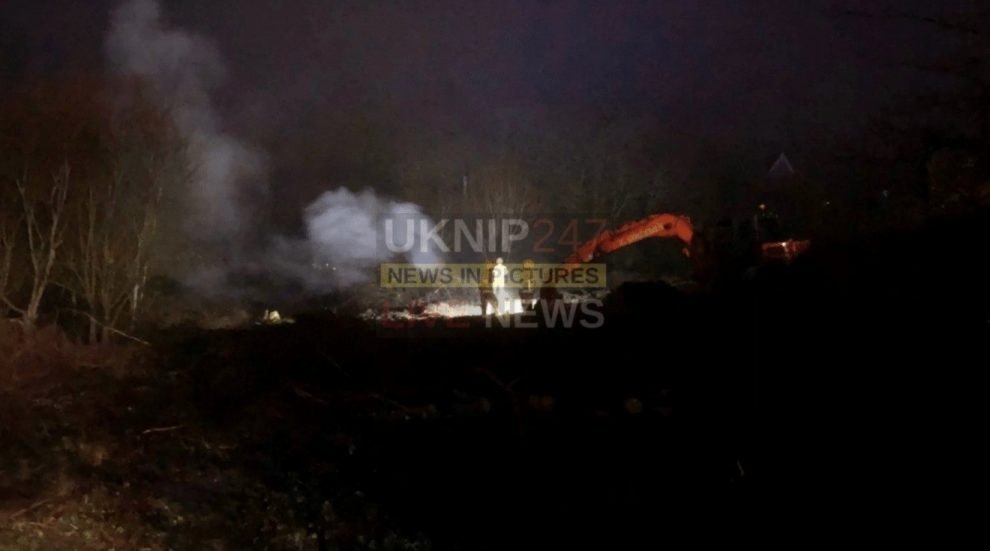 fire fighters tackle blaze in west wight area of the isle of wight