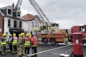 forty fire fighters called to tackle shop fire in lee on the solent