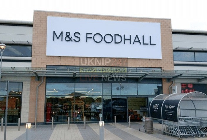 not just any opening but an m and s food hall opening in portsmouth