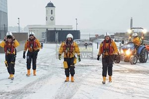 Person In The Sea In Extreme Weather Conditions Prompt's  Rescue Operation Off Margate