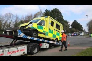 ambulance in collision with two vehicles in southampton