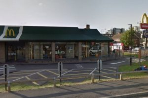 brawl and stabbing outside mcdonalds leave one man hospitalised