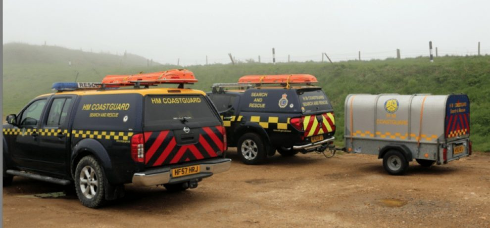 coastguard search and rescue teams called after paraglider injured in westwight