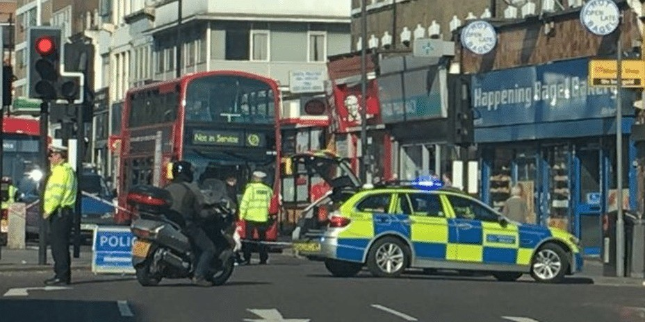 collision on a503 finsbury park