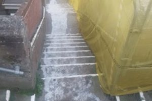 exclusive probe launched after corrosive liquid dumped on sandown beach stairway