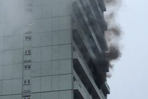 fire crews called to tackle battersea tower block blaze