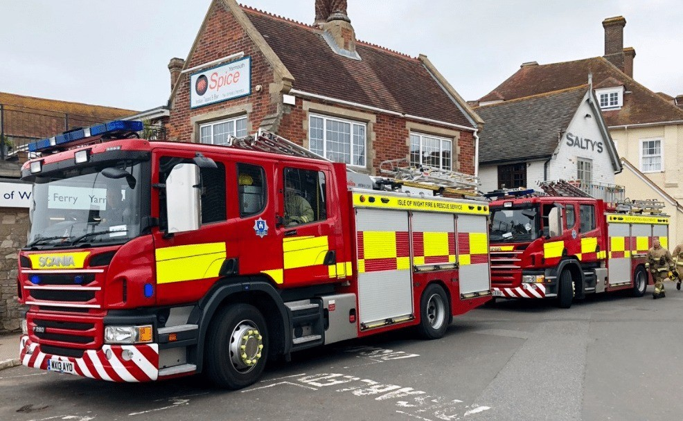 fire crews called to wightlink terminal in yarmouth