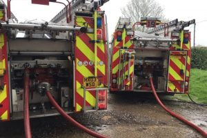 fire crews from across hampshire sent to tackle stable block fire in hambledon
