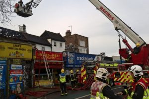 fire crews tackle blaze at peckham high street
