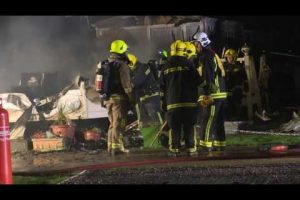 fire rips through caravan park hayling island