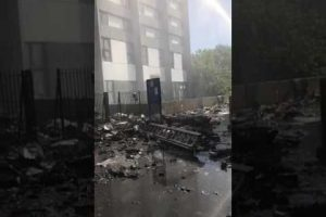 live from the bottom of the london grenfell tower block fire