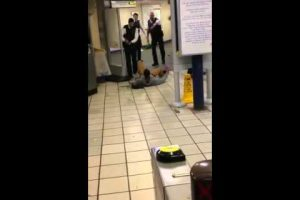 london second tube terror as knifeman screaming slashes mans throat leyton train station