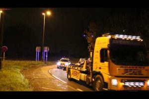 m271 motorway horror smash recovery convey hampshire