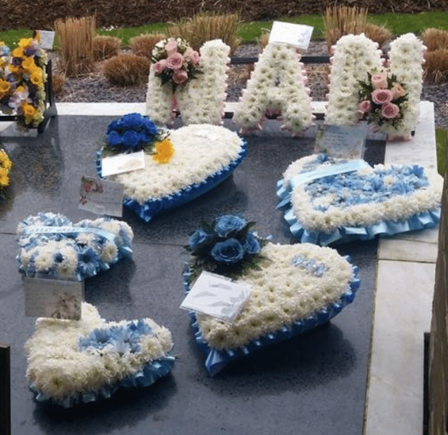 scum steal flowers from the dead at portchester crematorium