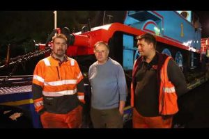 thomas the tank engine stops off over night on the m25