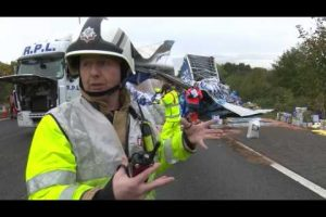 update from the scene from rbfrs mark jones on the m4 overturned lorry