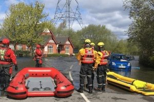 west midlands fire flood rescue team sent to wednesbury