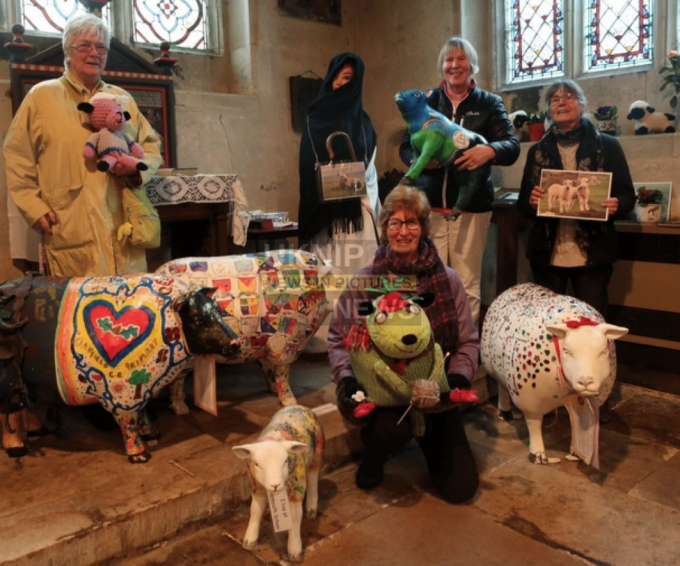 would ewe believe it as sheep take over shorwell village on the isle of wight