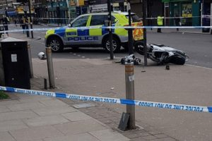young moped rider and passenger injured after smashing into car during police chase