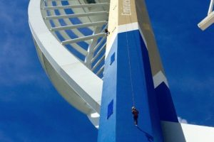 zoo abseil down spinnaker tower cancelled due to high winds