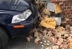 car ploughs into bromley property