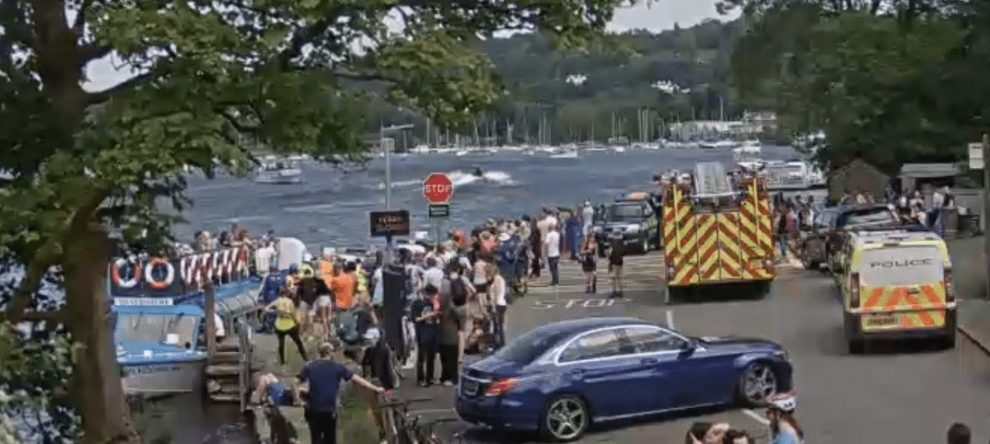 eighty people evacuated from chain ferry in lake windermere