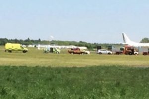 exculsive glider involved in high speed crash at lasham airfield