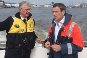 fact finding cowes harbour tour for mp bob seely