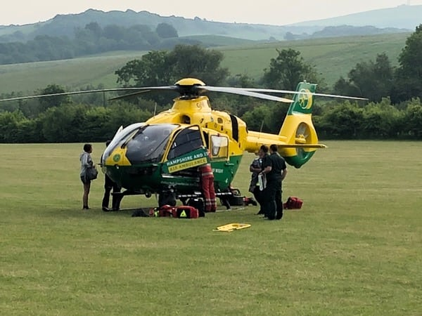 fire crews called to rescue child trapped in well on the isle of wight