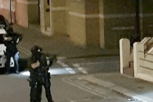 herne bay street on lock down by armed police following stabbing