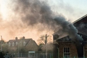 kent fire crews tackle electrical fire in canterbury