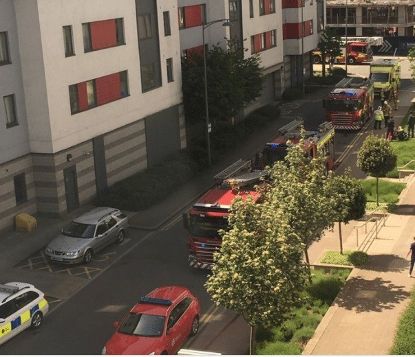 kitchen fire see one taken to hospitial