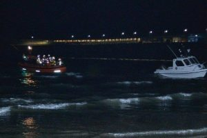 Major Search Operation Off Folkstone After Small  Boat Takes On Water