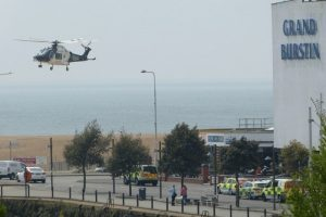 man airlifted to king college hospitial from burstin hotel in kent
