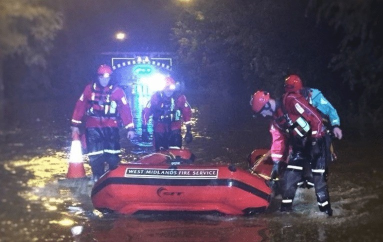 pensioner dies after getting trapped in submerged car in walshall