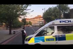 police seal off street in hackney following an incident