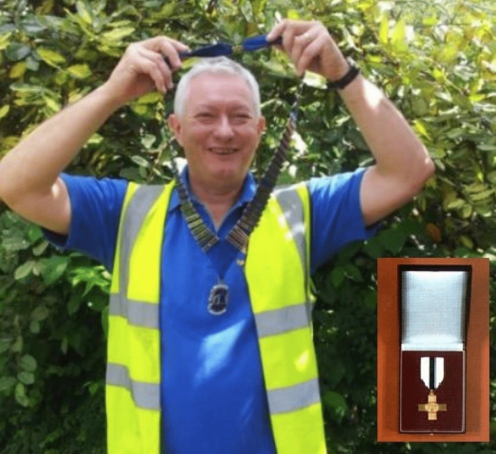 portsmouth man david sanders has been awarded the order of mercy by the league of mercy