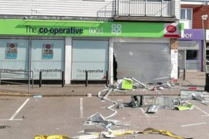 ram raid on gravesend co op