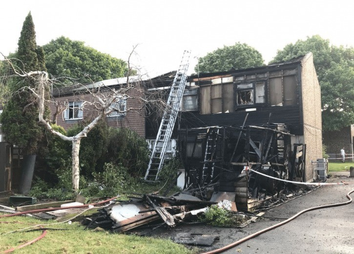 residents rehoused after fire rips through property