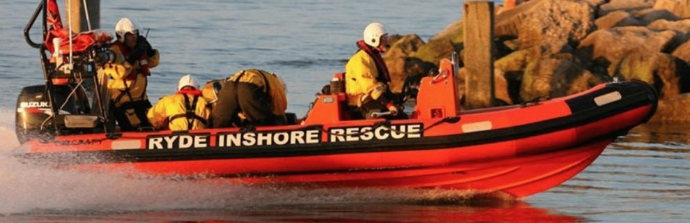 ryde rescue lifeboat launched to assist sailor in distress