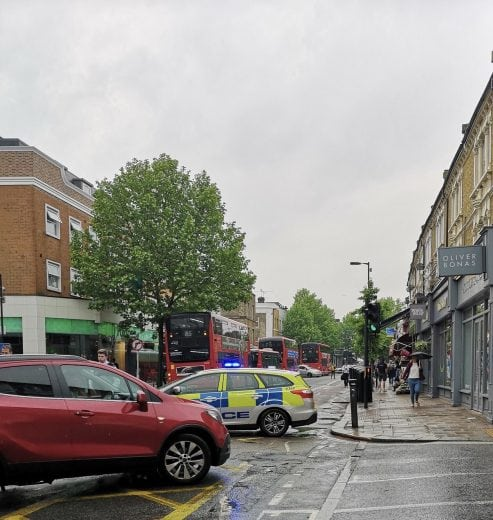 suspect package find in east dulwich