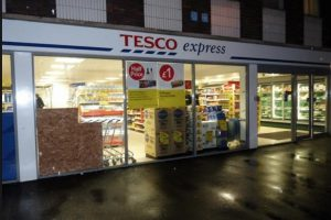 two arrested following tesco burglary