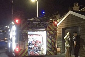 woman rushed to hospitial after gas explosion in deal