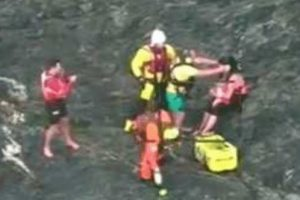 15 month old baby and two others rescued from rocks in cornwall