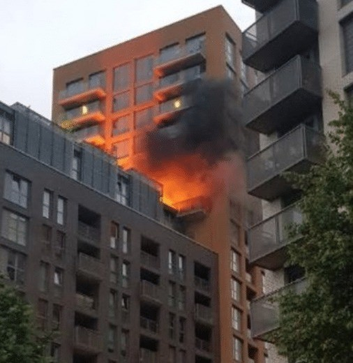 180 people evacuated after a fire breakout in a 20 storey block in lewisham