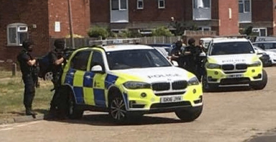 armed police in stand off with man seen with a gun near whitstable