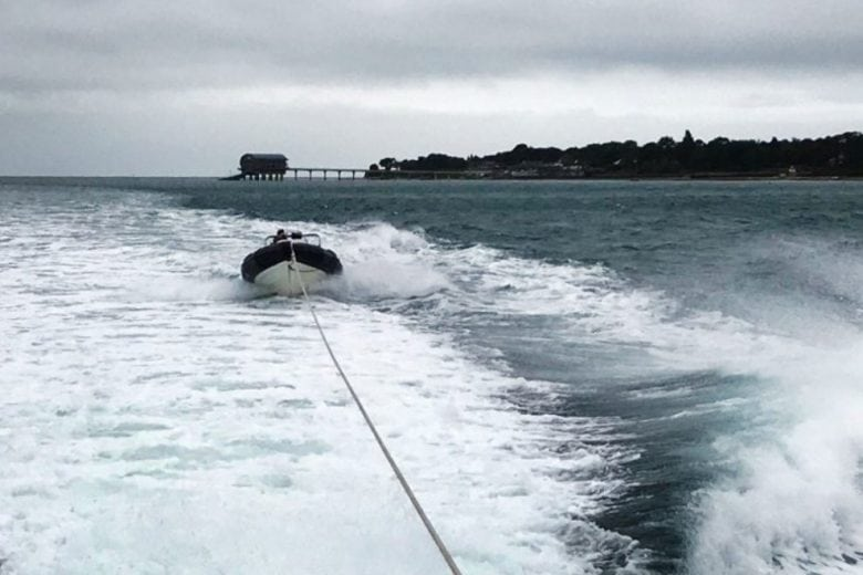 bembridge lifeboat launched to broken down boat in main shipping lane