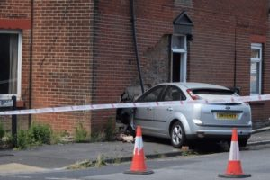 drink driver arrested after ploughing into eastleigh property