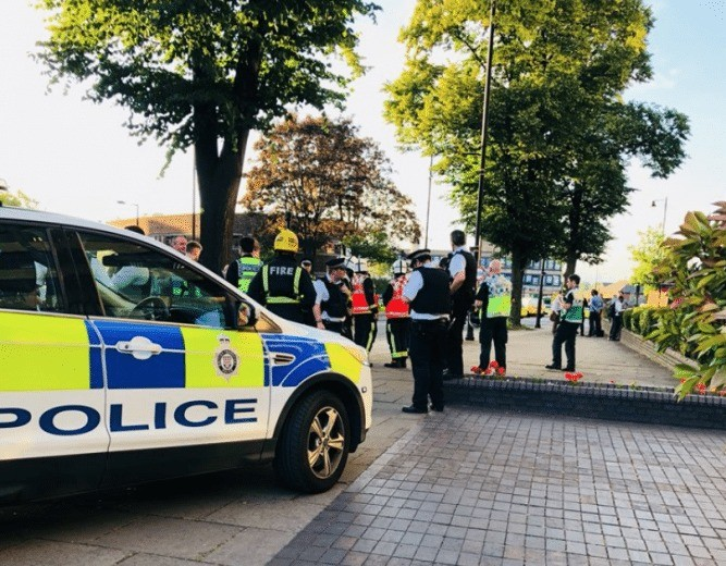 explosion at southgate underground in london