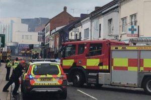 fire crews called to roof fire in northampton town